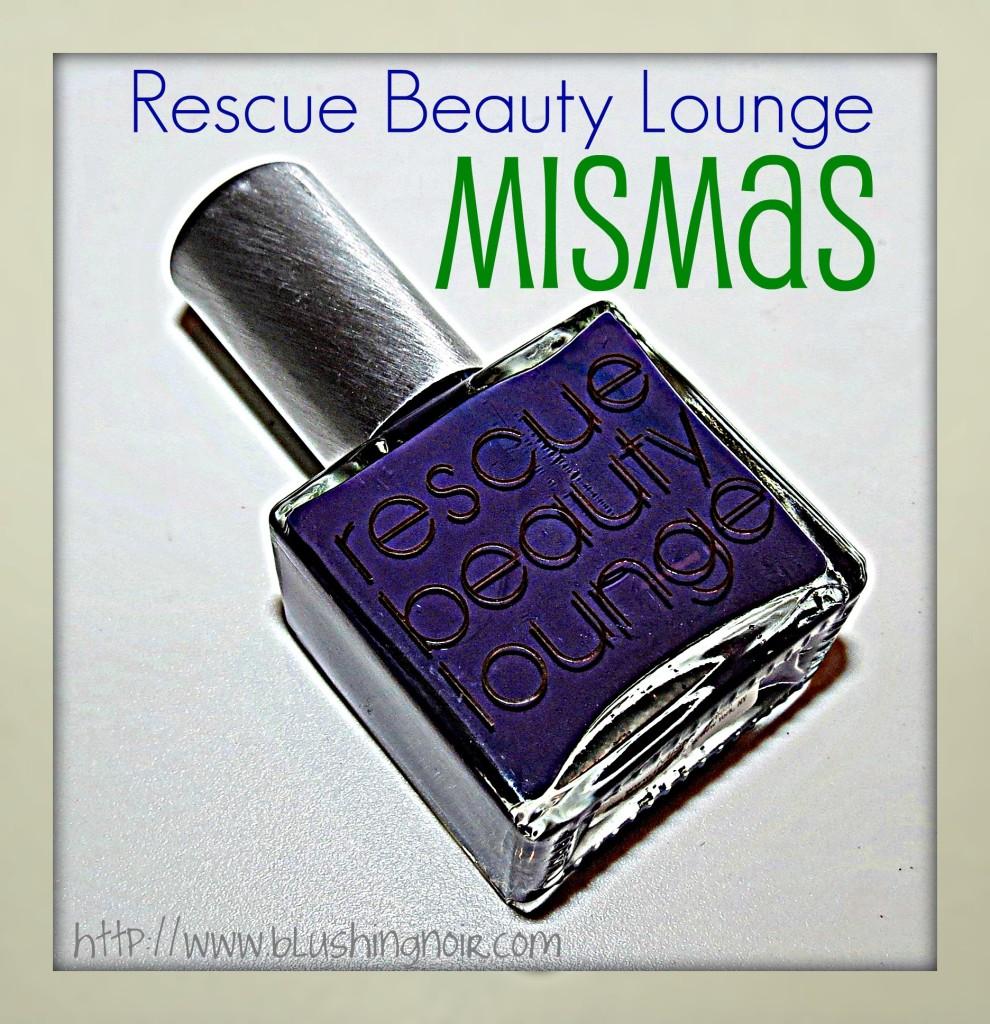 Rescue Beauty Lounge Mismas Nail Polish Swatches Nail Art 3