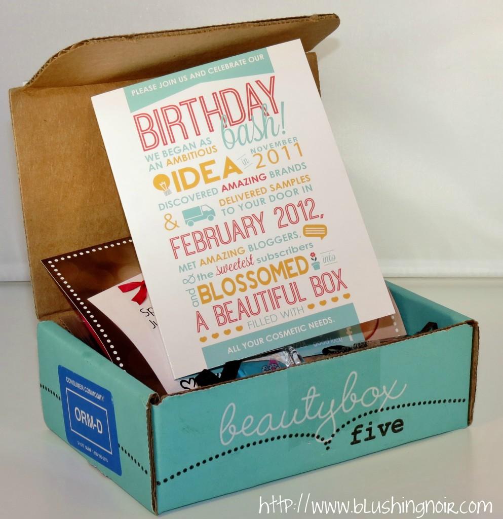 Beauty Box 5 February 2014 Birthday Bash
