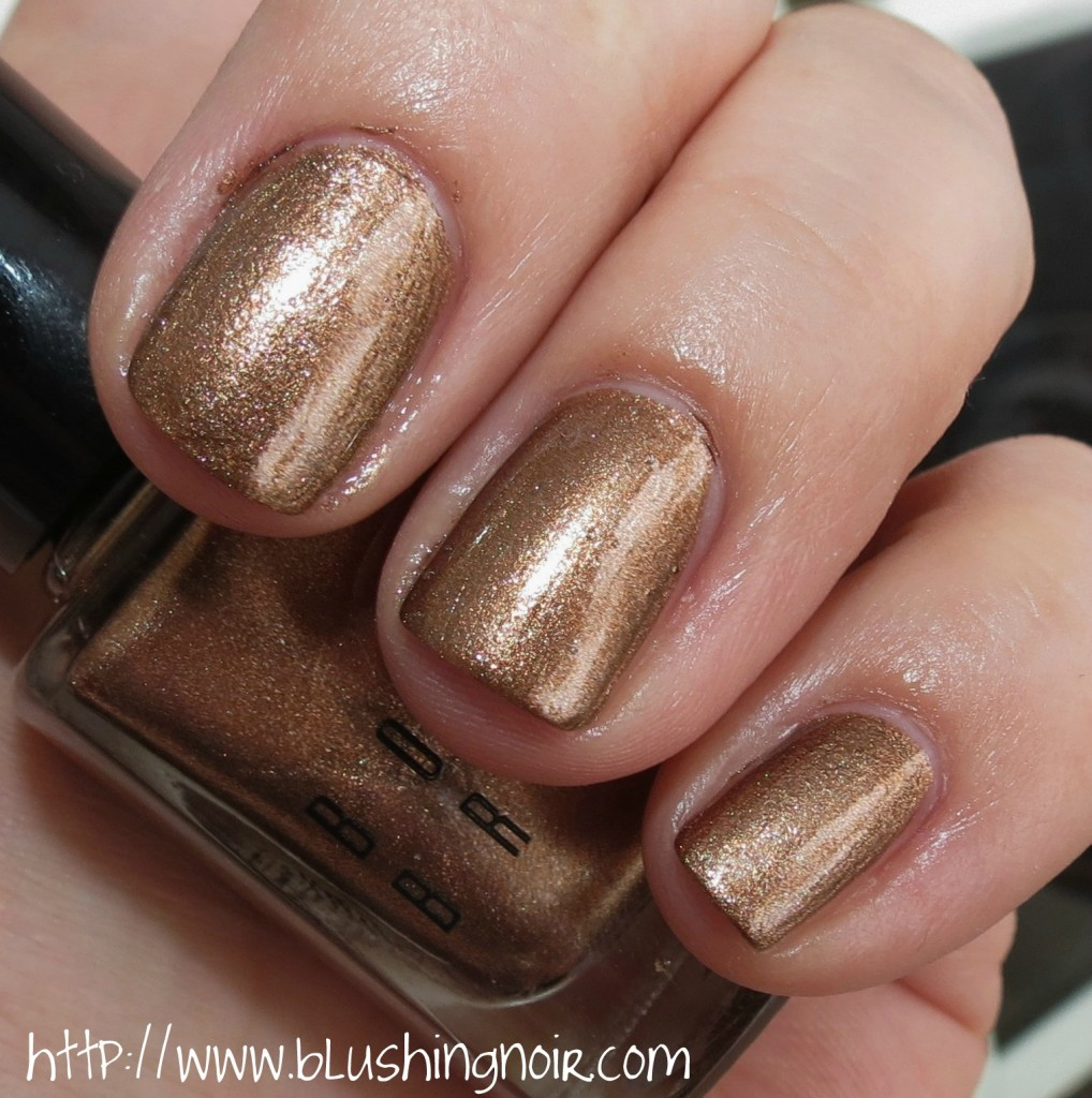 Bobbi Brown BRONZE Shimmer Nail Polish Swatches