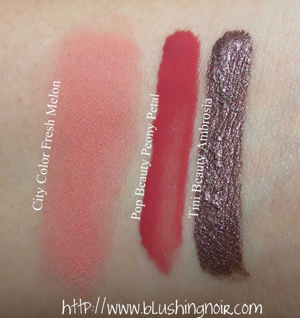February 2014 ipsy Glam Bag swatches
