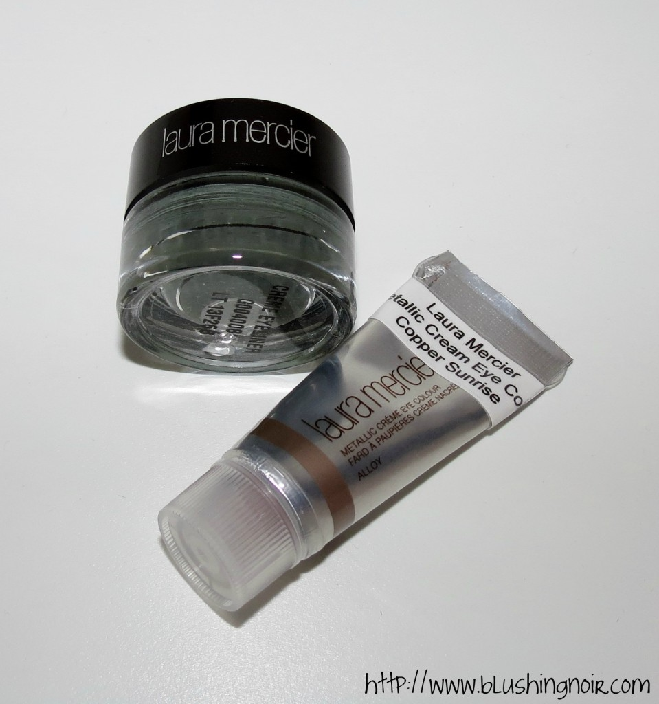 Laura Mercier Graphite Creme Eye Liner & Copper Sunrise Metallic Creme Eye Colour