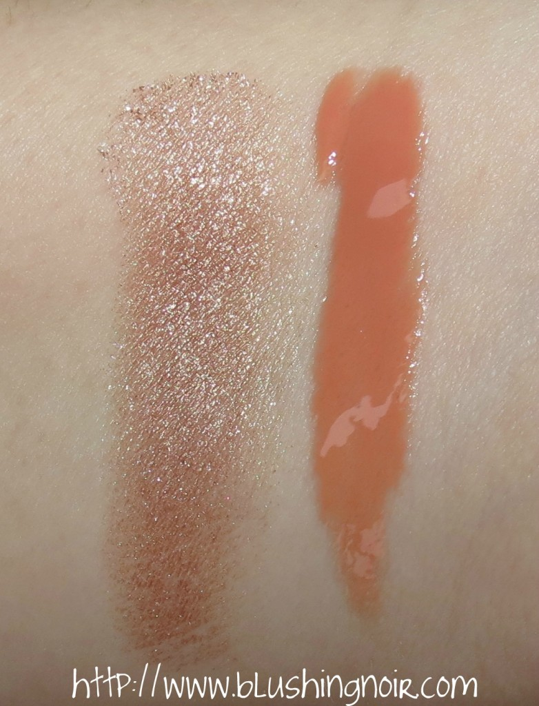 MAC Superb Extra Dimension Skinfinish, Overspiced Lipglass Magnetic Nude Swatches