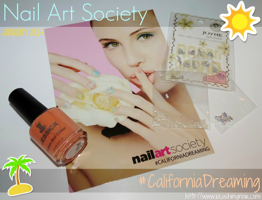 Nail Art Society January 2014 #CaliforniaDreaming Nail Art Box