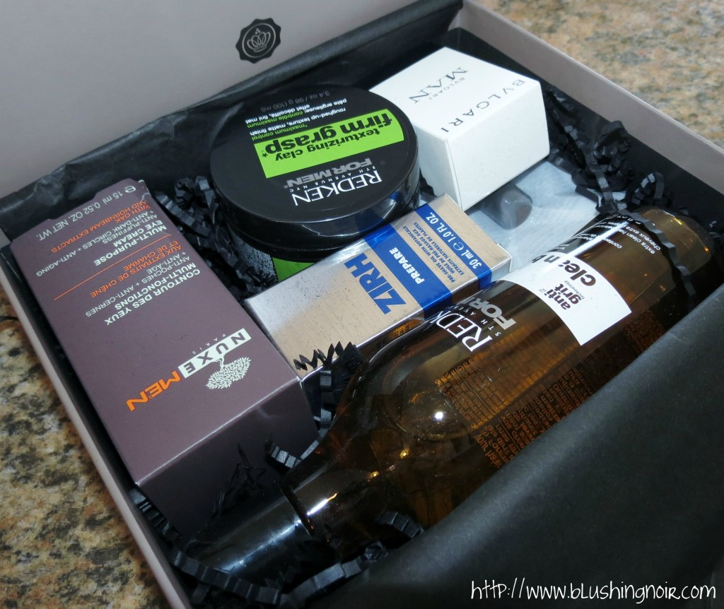The Men's GLOSSYBOX contents