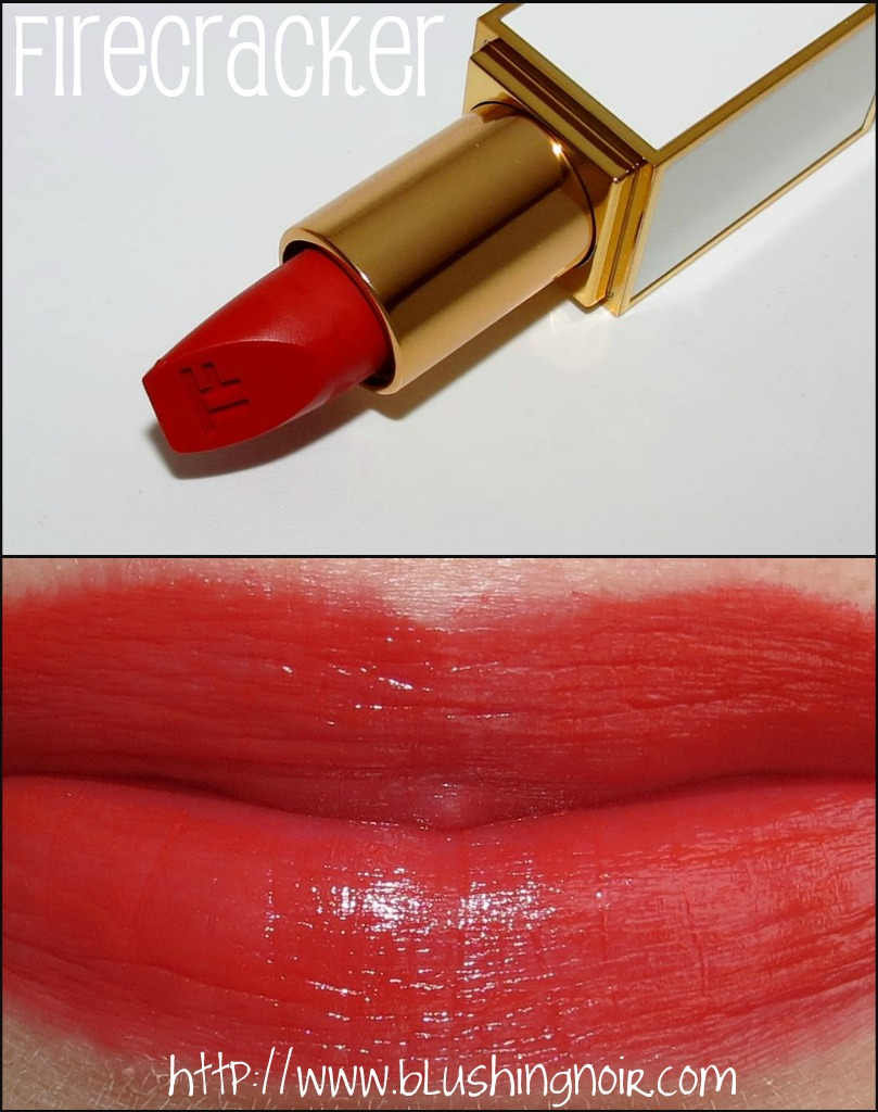 Tom Ford Firecracker Lip Color Sheer Swatches