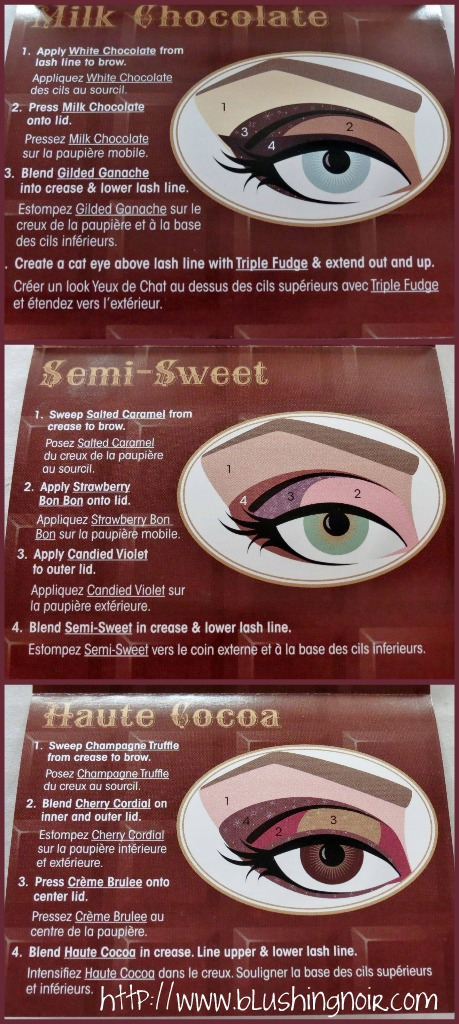 Too Faced Chocolate Bar Eye Palette Get the Look Card