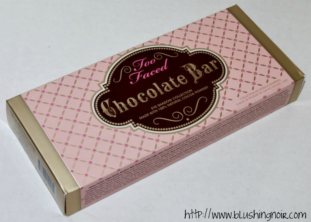 Too Faced The Chocolate Bar Eye Palette Box