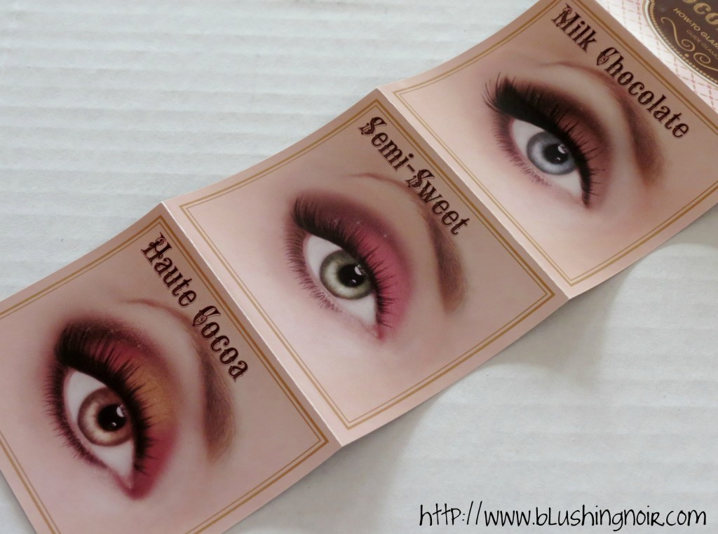 Too Faced The Chocolate Bar Eye Palette Glamour Guide