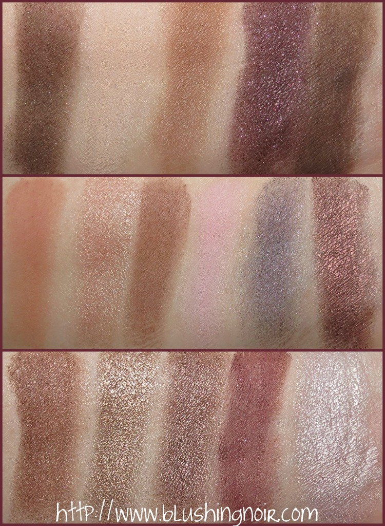 Too Faced The Chocolate Bar Eye Palette Swatches