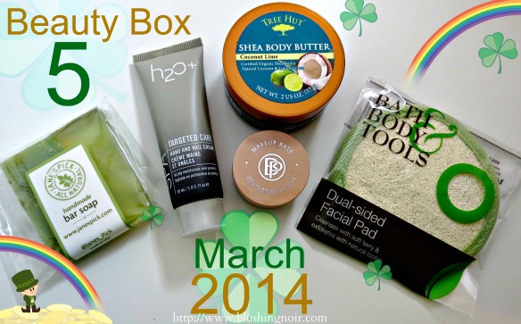 Beauty Box 5 Subscription March 2014 Swatches Review