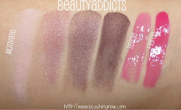 BeautyAddicts Motivate Tease Fierce Swatches
