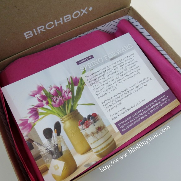 Birchbox March 2014 Spring Forward Review Photos Swatches