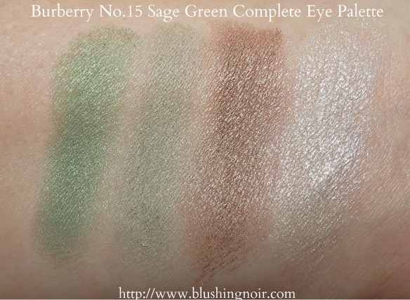 Burberry Sage Green Complete Eye Shadow Palette Swatches