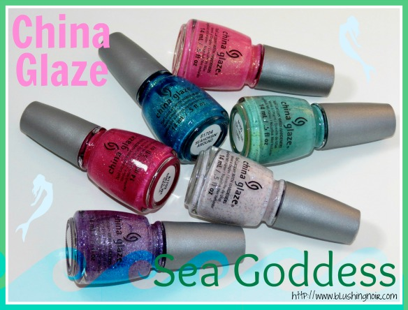 China Glaze Sea Goddess Nail Polich Collection Swatches Review