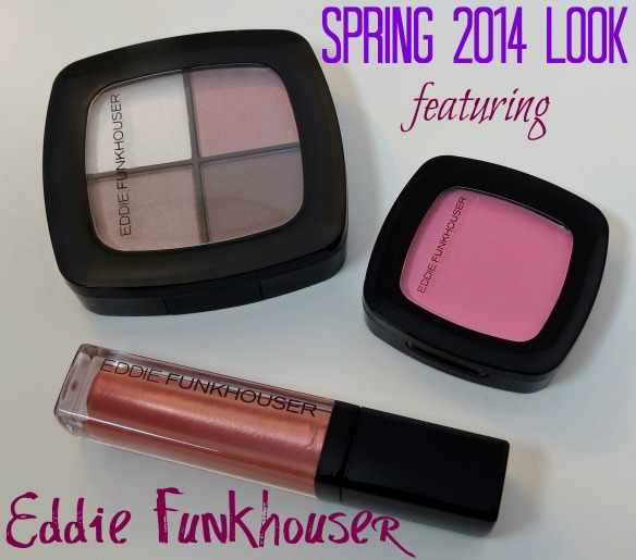 Eddie Funkhouser Cosmetics Bedroom Eyes Sugar Kisses Lip Gloss Peep Show Blush Spring Look Swatches Review