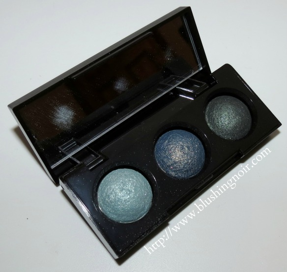 Laura Mercier Emerald Trio Petite Baked Eye Colour Bonbons Review Swatches