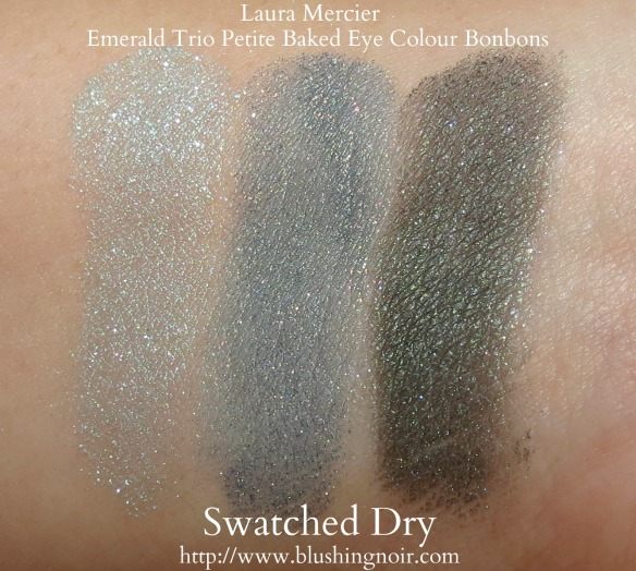 Laura Mercier Emerald Trio Petite Baked Eye Colour Bonbons swatches