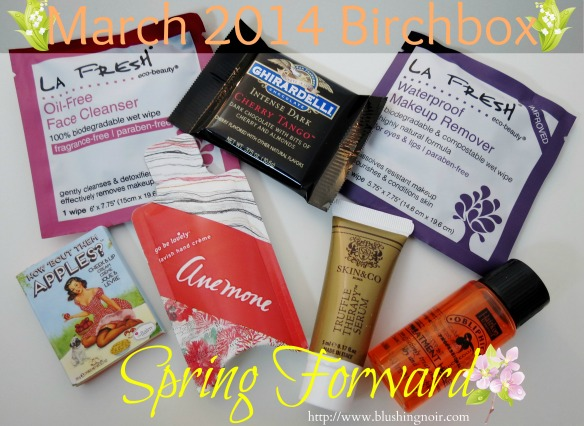 March 2014 Birchbox Photos Contents Swatches Review
