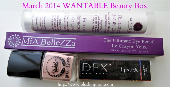 March 2014 WANTABLE Beauty Box