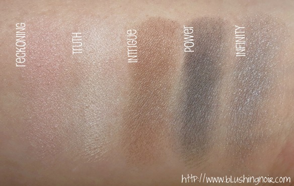 NYX Cosmetics Revenge Is Infinite Makeup Collection Eye Shadow Swatches 1