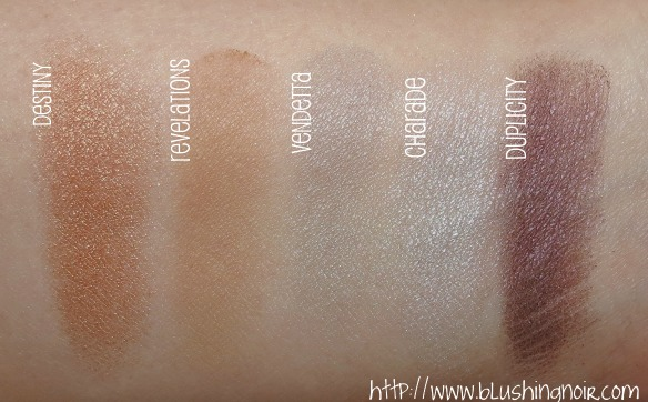 NYX Cosmetics Revenge Is Infinite Makeup Collection Eye Shadow Swatches 2