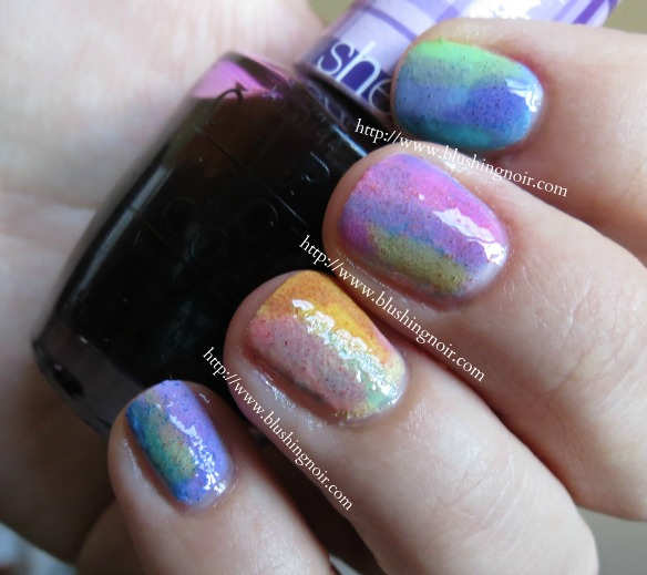 Nicole by OPI Roughles Watercolor Nail Art Swatches 2