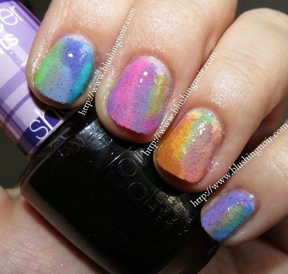 Nicole by OPI Roughles Watercolor Nail Art Swatches