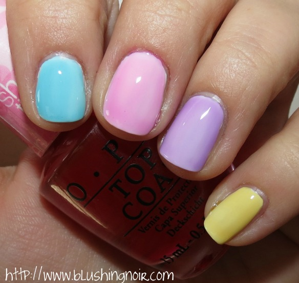 OPI Sheer Tints Nail Polish over Nicole by OPI Yoga-Then-Yogurt