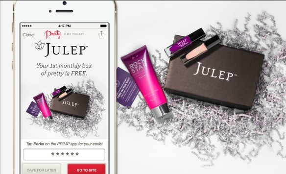 PRIMP & JULEP Offer PERKS! Your 1st monthly box of pretty FREE!