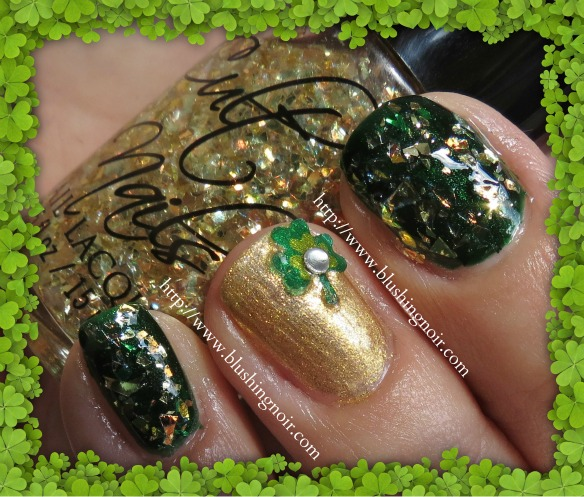 St. Patrick's Day Manicure Nail Art Cult Nails Coveted Feedback Chanel Gold Fingers