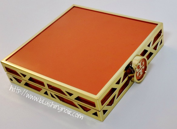 Tory Burch 01 DIVINE Bronzer Blush Highlighter Palette Orange Case side