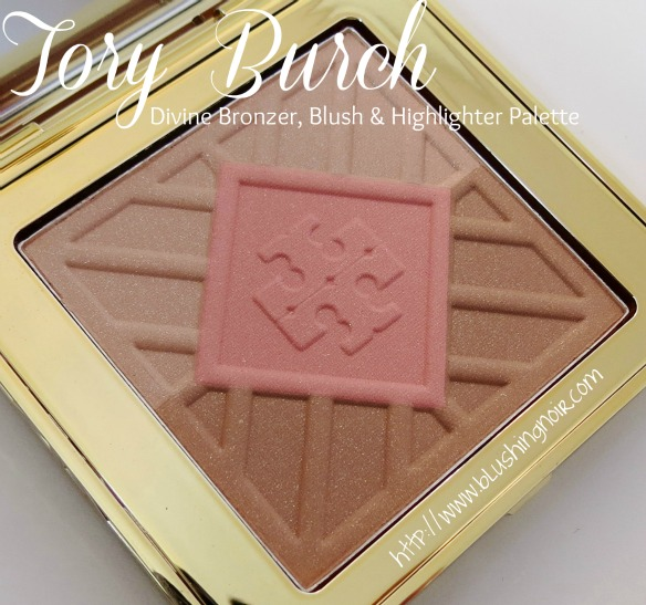 Tory Burch Divine Bronzer Blush Highlighter Palette Swatches Review Look
