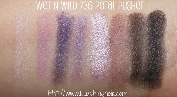 Wet N Wild 736 Petal Pusher Coloricon Eyeshadow Palette Swatches