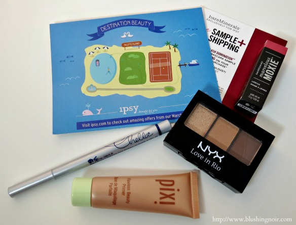 ipsy Glam Bag Destination Beauty March 2014