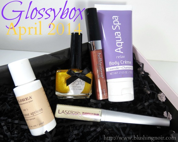 Glossybox April 2014 Swatches Photos Review