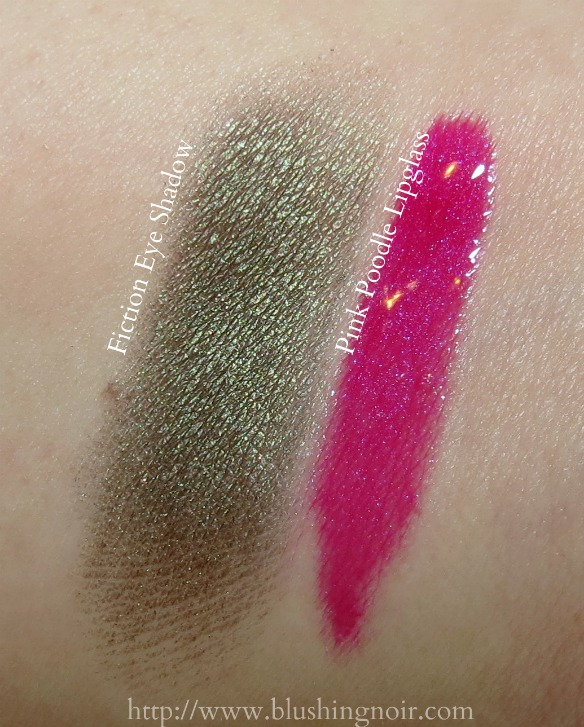MAC Fiction Eye Shadow Pink Poodle Lipglass Swatches