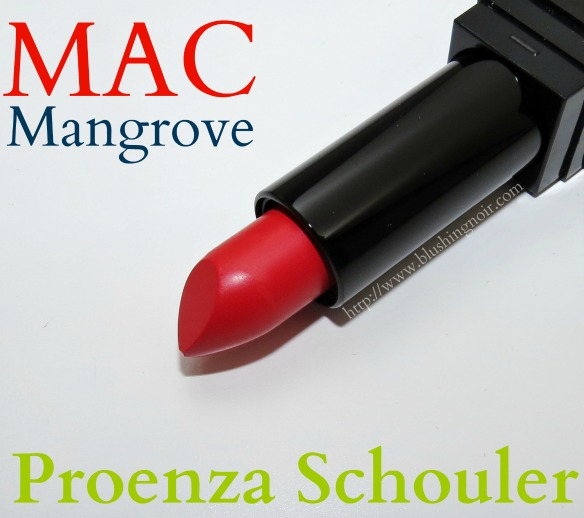 MAC Mangrove Lipstick Swatches Review Proenza Schouler