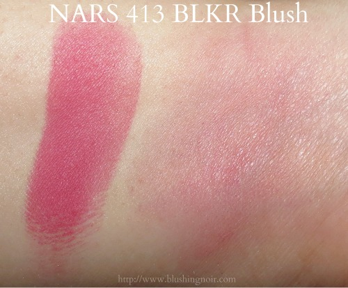 NARS 413 BLKR Blush Swatches