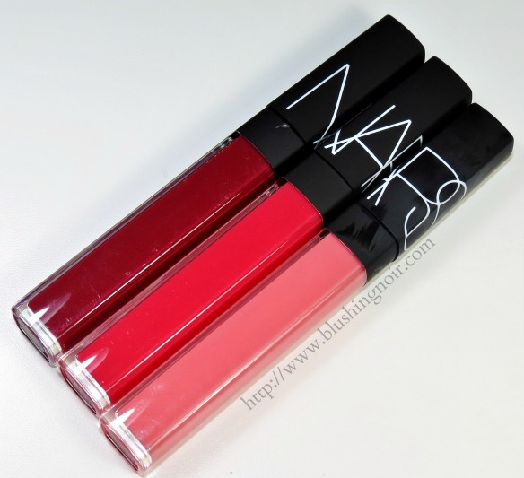 NARS Tasmania Salamanca Quito Lip Gloss Review Swatches
