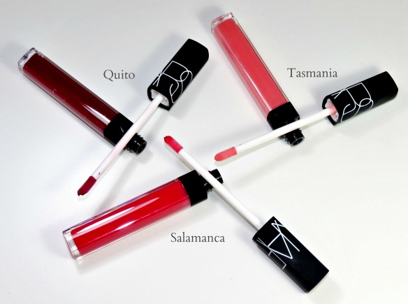 NARS Tasmania Salamanca Quito Lip Gloss Swatches Review