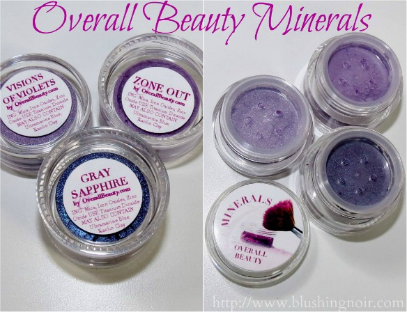 Overall Beauty Minerals Visions of Violets, Zone Out, Gray Sapphire Review