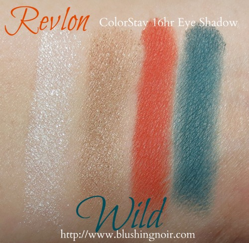 Revlon WILD ColorStay 16hr Eye Shadow Swatches Summer 2014