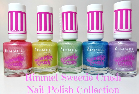 Rimmel London Sweetie Crush Nail Polish Collection Swatches Review Photos