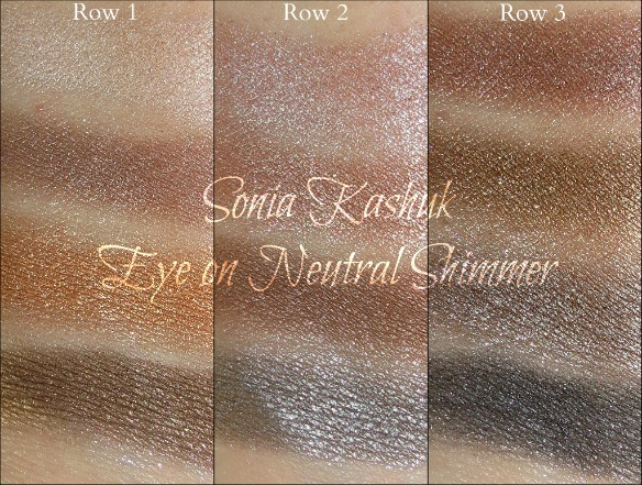 Sonia Kashuk Eye on Neutral Shimmer Palette Swatches