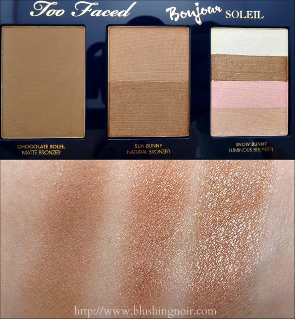 Too Faced Bonjour Soleil Summer Bronzing Wardrobe Palette Swatches