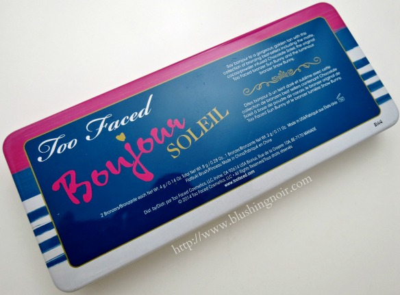 Too Faced Bonjour Soleil Summer Bronzing Wardrobe back palette