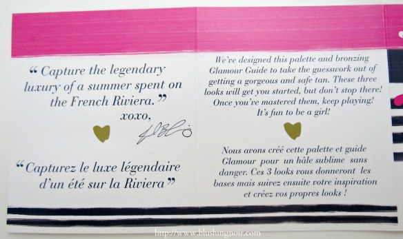 Too Faced Bonjour Soleil Summer Bronzing Wardrobe insert