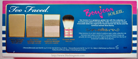 Too Faced Bonjour Soleil contents