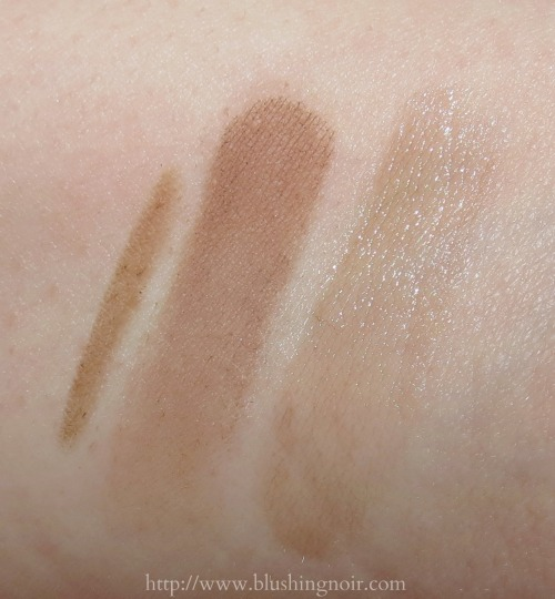 Vincent Longo Brow products swatches