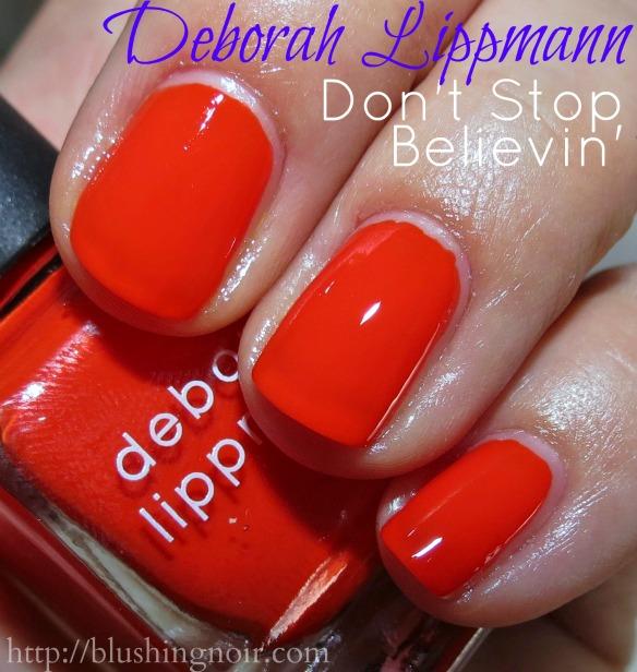 Deborah Lippmann Don't Stop Believin' Nail Polish Swatches